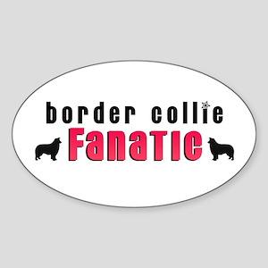 Border Collie Fanatic Oval Sticker