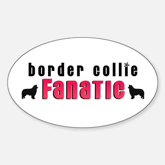 Border Collie Fanatic Oval Decal