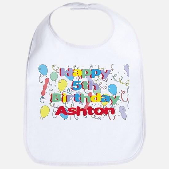 Ashton's 5th Birthday Bib