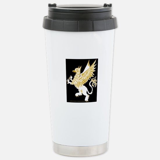 Graphic Gryphon/Griffin White Stainless Steel Trav