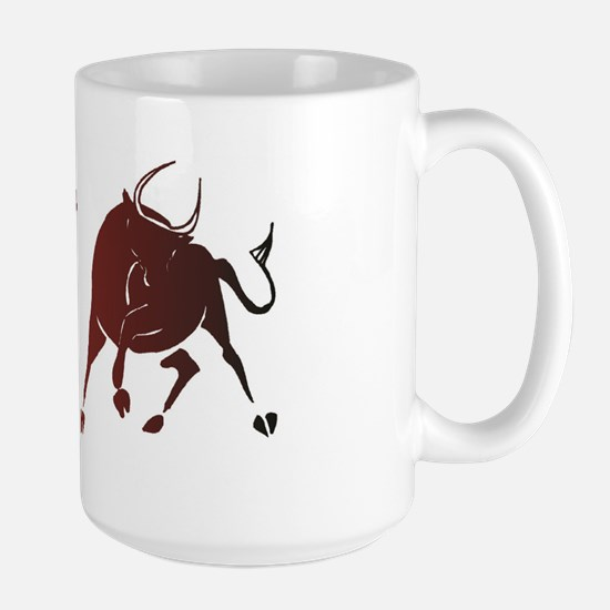 Bear vs Bull Large Mug