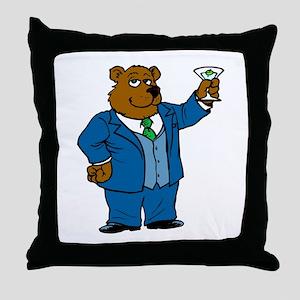 Bear Toast Throw Pillow