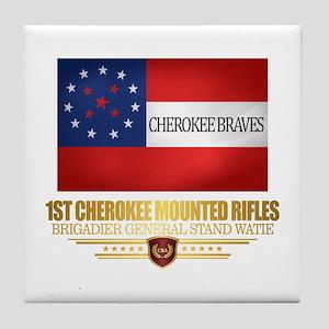 1st Cherokee Mounted Rifles Tile Coaster