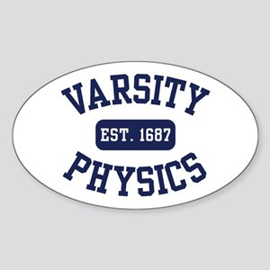 Varsity Physics Oval Sticker