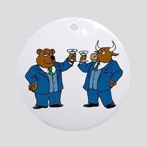 New Year's Toast Ornament (Round)