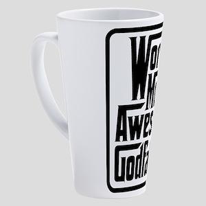 Worlds Most Awesome Godfather 17 oz Latte Mug