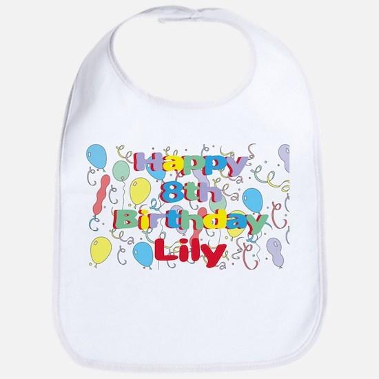 Lily's 8th Birthday Bib