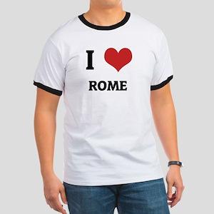 I Love Rome Ringer T