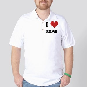 I Love Rome Golf Shirt