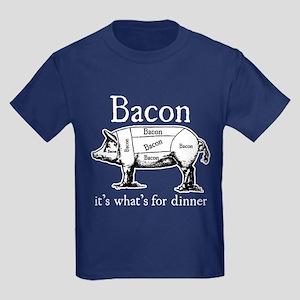 Bacon: It's what's for dinner Kids Dark T-Shirt