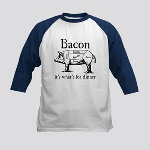 Bacon: It's what's for dinner Kids Baseball Jersey