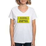 Warning: Newbie Diver Women's V-Neck T-Shirt