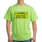 Warning: Newbie Diver Green T-Shirt