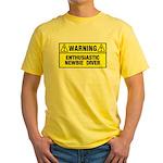 Warning: Newbie Diver Yellow T-Shirt