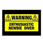 Warning: Newbie Diver Postcards (Package of 8)