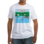 Rainy Days at Summer Camp Fitted T-Shirt