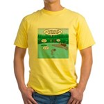 Rainy Days at Summer Camp Yellow T-Shirt
