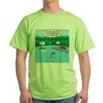 Rainy Days at Summer Camp Green T-Shirt
