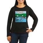 Rainy Days at Sum Women's Long Sleeve Dark T-Shirt