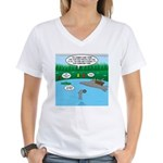 Rainy Days at Summer Camp Women's V-Neck T-Shirt