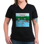 Rainy Days at Summer C Women's V-Neck Dark T-Shirt