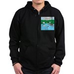 Rainy Days at Summer Camp Zip Hoodie (dark)