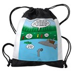 Rainy Days at Summer Camp Drawstring Bag