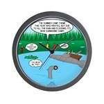 Rainy Days at Summer Camp Wall Clock