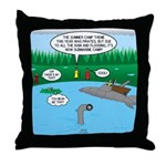 Rainy Days at Summer Camp Throw Pillow