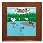 Rainy Days at Summer Camp Framed Tile