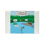 Rainy Days at Summer C Rectangle Magnet (100 pack)