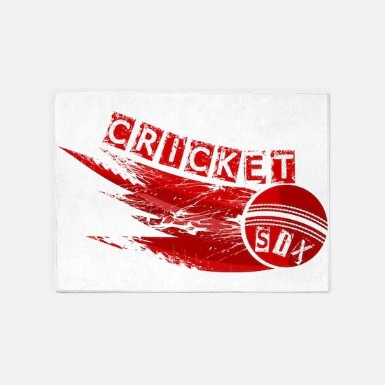 Cricket Sixer 5'x7'Area Rug