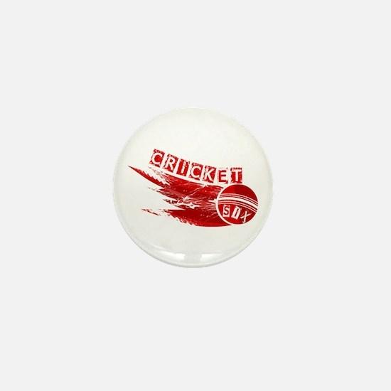 Cricket Sixer Mini Button