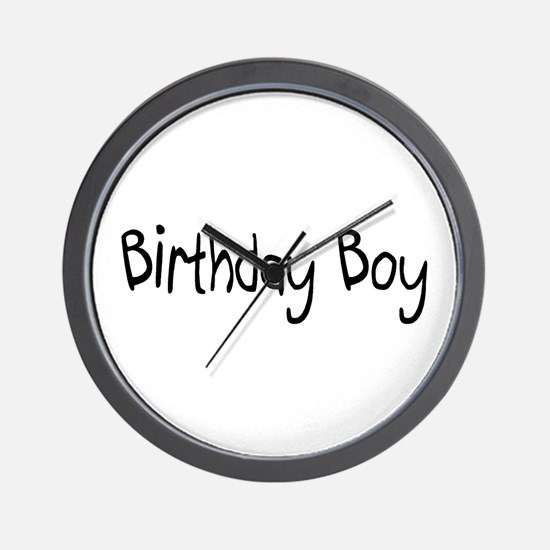 Birthday Boy Wall Clock