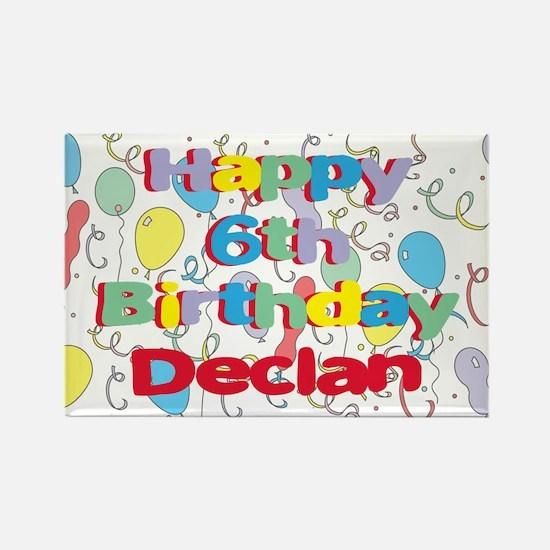Declan's 6th Birthday Rectangle Magnet