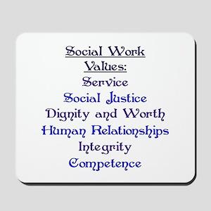 Social Work Values Mousepad