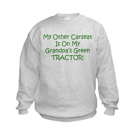 Carseat Grandpas Green Tractor Kids Sweatshirt