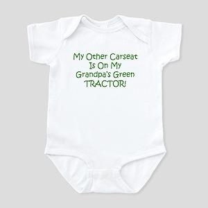 Carseat Grandpas Green Tractor Infant Bodysuit