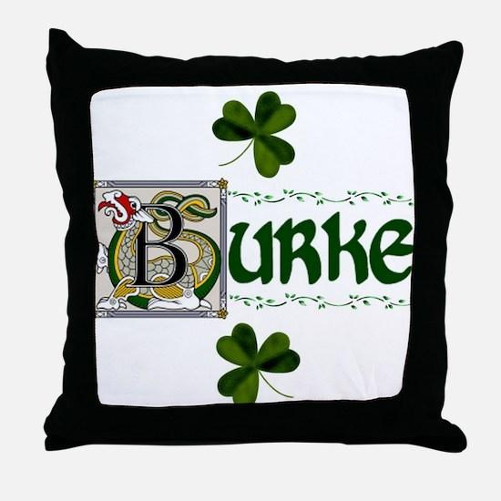 Burke Celtic Dragon Throw Pillow