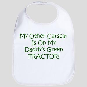 Carseat Daddys Green Tractor Bib