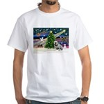 Xmas Magic & Bulldog White T-Shirt