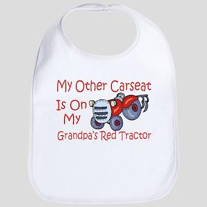 Carseat Grandpas Red Tractor Bib