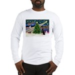 XmasMagic/Dobie (1) Long Sleeve T-Shirt