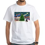 Xmas Magic & Collie White T-Shirt