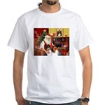 Santa's Collie pair White T-Shirt