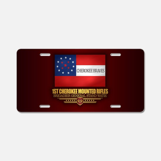 1st Cherokee Mounted Rifles Aluminum License Plate