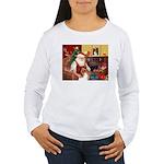 Santa's Collie Women's Long Sleeve T-Shirt