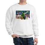 XmasMagic/3 Cockers Sweatshirt