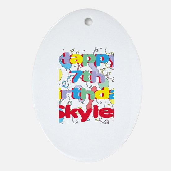 Skyler's 7th Birthday Oval Ornament