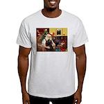 Santa's Black Cocker Light T-Shirt